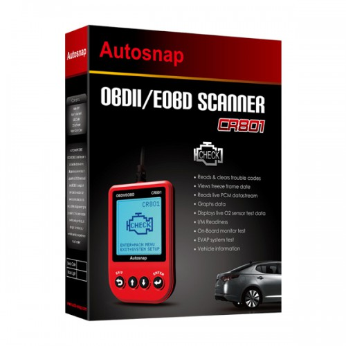 CR801 OBDII/EOBD Code Reader Red
