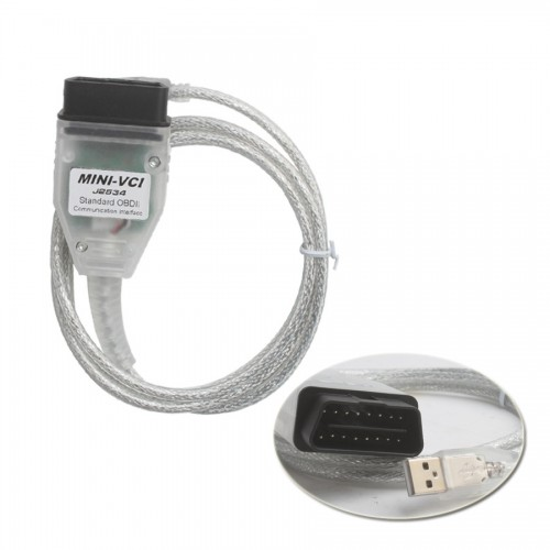 MINI VCI FOR TOYOTA TIS Techstream V10.30.029 Firmware V2.0.4 Single Cable Livraison Gratuite