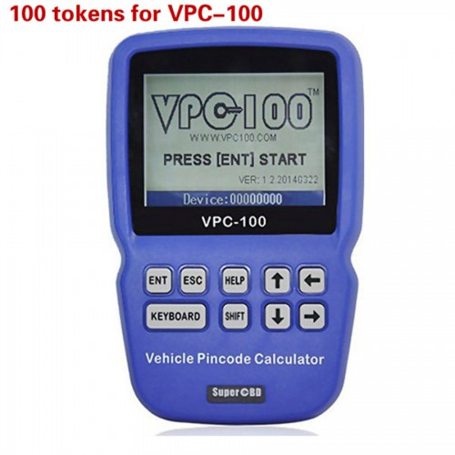 100 Tokens for VPC-100 Hand-Held Vehicle Pin Code Calculator Livraison Gratuite