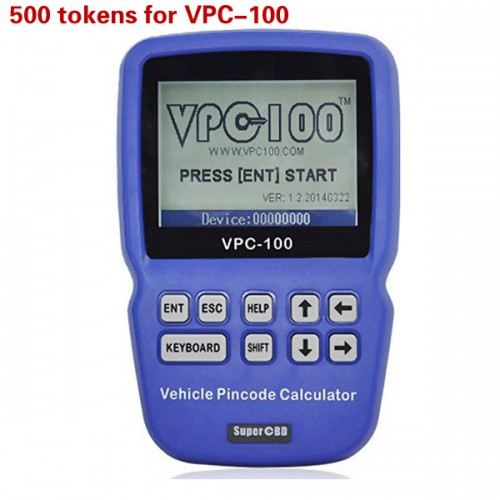 500 Tokens for VPC-100 Hand-Held Vehicle PinCode Calculator Livraison Gratuite