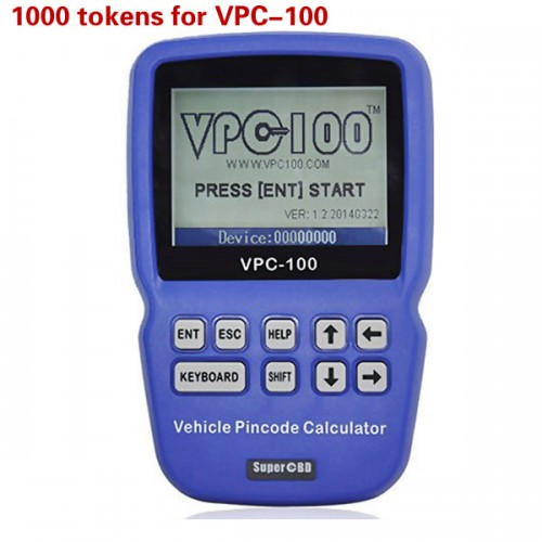 1000 Tokens for VPC-100 Hand-Held Vehicle PinCode Calculator Livraison Gratuite