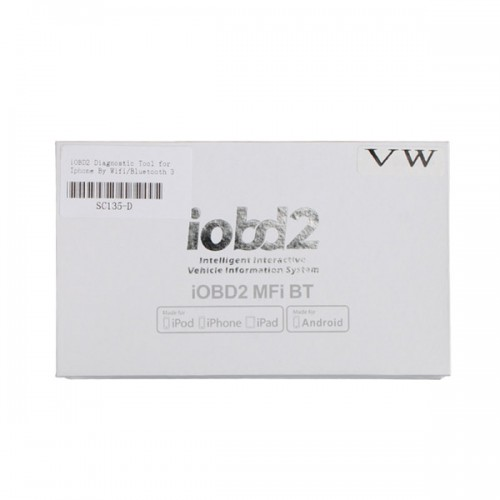 iOBD2 Bluetooth for Android and IOS for VW AUDI SKODA, SEAT Livraison Gratuite with Wifi
