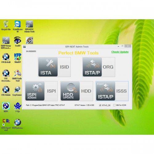 V2015.6 français ICOM HDD for BMW ISTA-D 3.49.30 ISTA-P 3.55.4.000 sans support USB Dongle système Win8