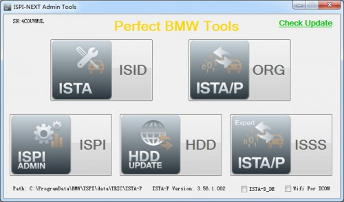 V2015.7 ICOM HDD for BMW ISTA-D 3.50.10 ISTA-P 3.56.1.002 sans USB Dongle support système Win8