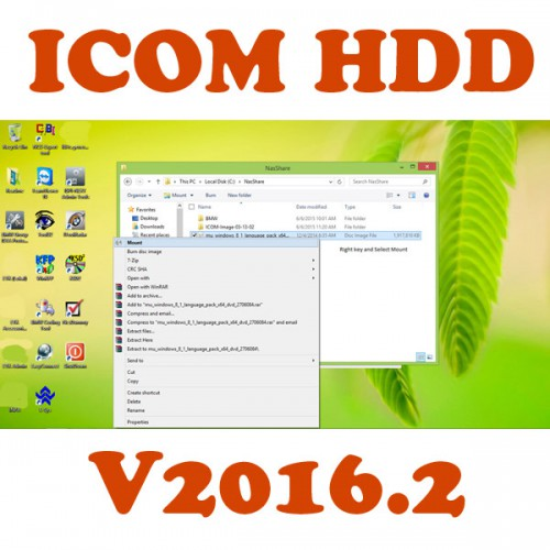 Français V2016.2 ISTA+ ICOM HDD Win8 System ISTA-D 3.53.30 ISTA-P 3.57.4.003 with Engineer Programming sans USB Dongle