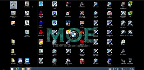 MOE BMW engineering system All Original BMW Software 500GB SSD with 1 Time Free Activation Support Win10