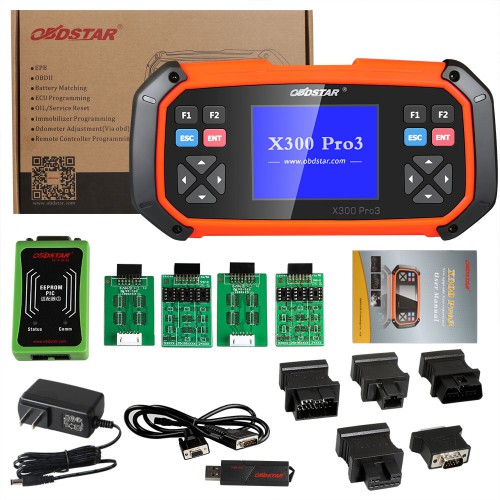 OBDSTAR X300 PRO3 Key Master Standard Version Avec Immobiliser+Odomètre Modification+EEPROM/PIC+OBDII+Toyota G & H Chip All key lost