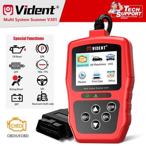Vident V301 Car Diagnostic Scanner OBD2 Diagnostic Tool Pour VW Audi Skoda Seat OBD2 Automotive Scanner OBD Code Reader