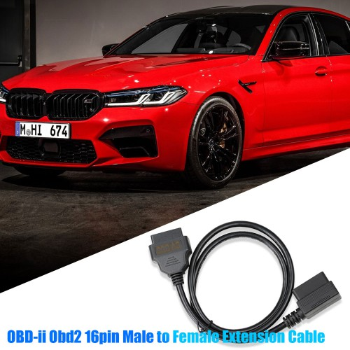 OBD-ii Obd2 16pin Male to Female Extension Cable Diagnostic Extender 100cm