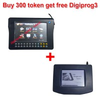 Buy 300 Tokens for Digimaster 3/CKM100/CKM200 Get Digiprog 3 Main unit and OBD Cable Free