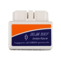 Super MINI ELM327 V2.1 Bluetooth OBD2 Scanner Blanc Smart Car Diagnostic Interface