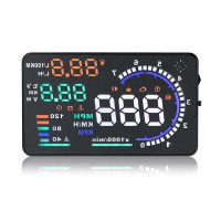 "5.5"" Large Screen Car HUD Head Up Display With OBD2 Interface Plug & Play A8 livraison gratuite"