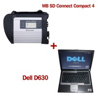 V2019.3 MB SD Connect C4 Star Diagnosis avec 256GB SSD Plus DELL D630 Ordinateur portable 4 Go de mémoire