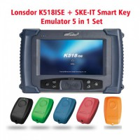 2018 Lonsdor K518ISE Programmeur Clé Plus émulateur de clé intelligente SKE-IT 5 in 1 Ensemble Paquet Entier