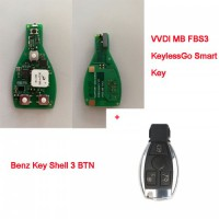 Xhorse VVDI MB Benz FBS3 Keyless Smart key + 3 Buttons Key Shell