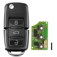 XHORSE XKB501EN Wired Universal Remote Key Volkswagen B5 Type 3 Buttons for VVDI Key Tool English Version 5pcs / lot
