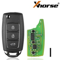 XHORSE XKHY05EN HYU.D style Wired Universal Remote Key Fob 3 Button for VVDI Key Tool (English Version) 2017 5pcs/lot