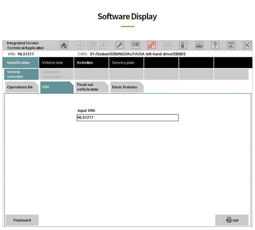 software display