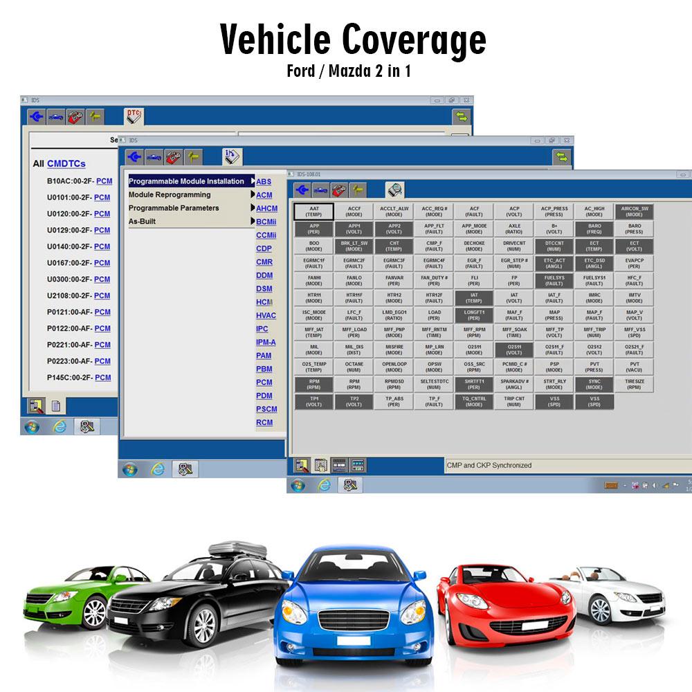 Autool Vxdiag VCX Nano pour Ford Mazda Wifi 2/en 1/Outil de diagnostic IDS V106/Vxdiag VCX Wifi Nano mise /à jour par CD avec Multi-Language