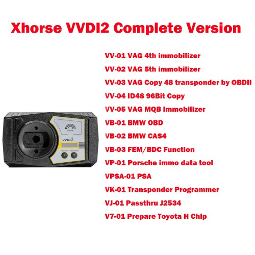 [Livraison UE sans taxe] Xhorse V6.8.2 VVDI2 Full Version 13 Software Activated [Free Mercedes Benz FBS3 Smart Key]