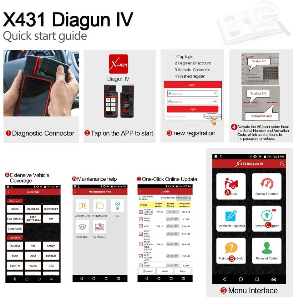 LAUNCH X431 DIAGUN V